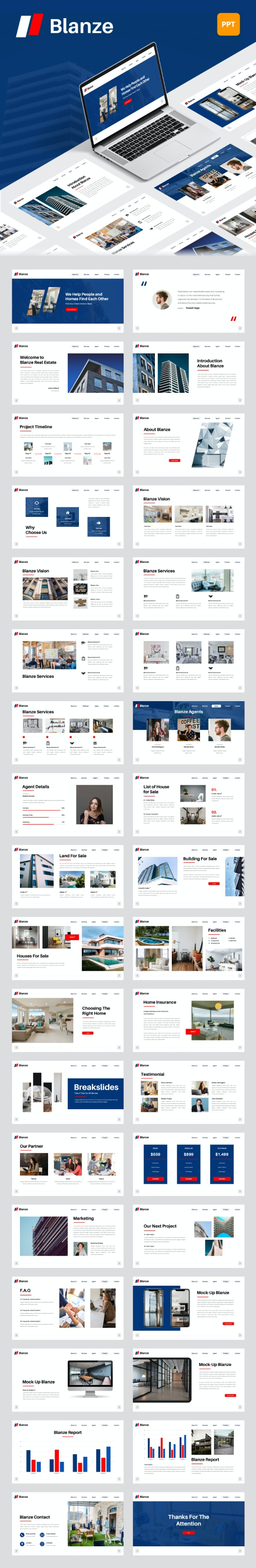 Blanze - Real Estate PowerPoint Template - Business PowerPoint Templates