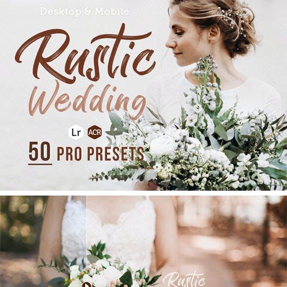 50 Rustic Wedding Presets for Lightroom & ACR