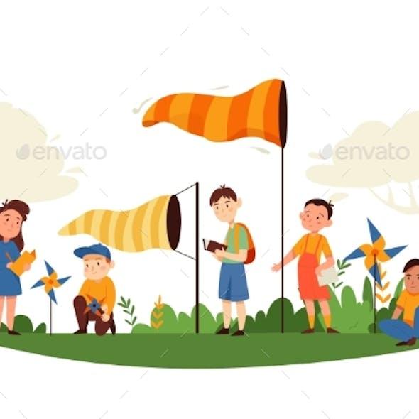 Wind Vane Kids Composition