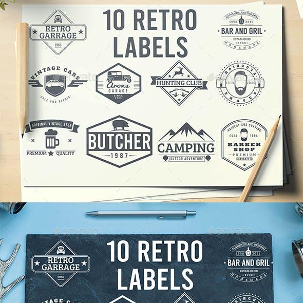 10 Retro Labels