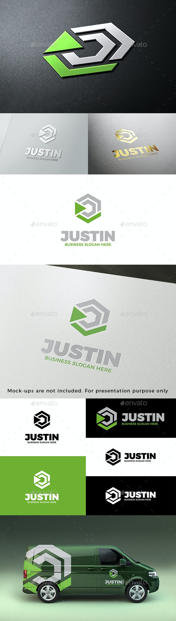 Just In - Abstract Cube Symbol Geometric Logo - Abstract Logo Templates