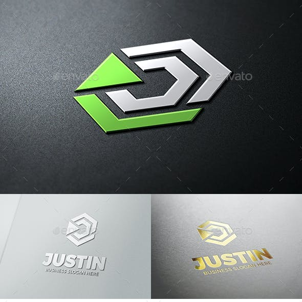 Just In - Abstract Cube Symbol Geometric Logo