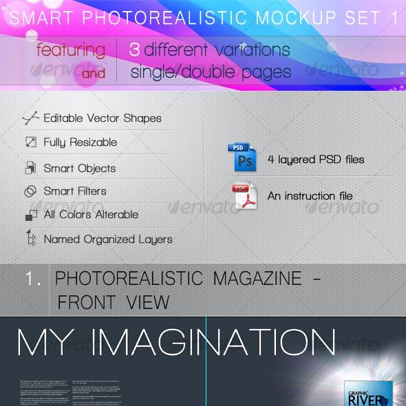 Smart Photorealistic Mockup Set 1