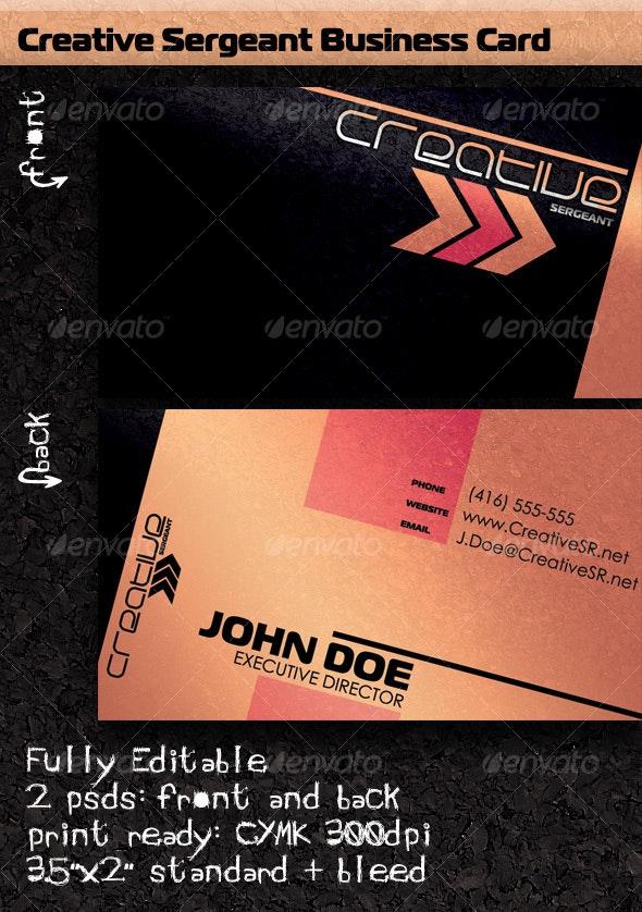 Creative Sergeant Business Card - Grunge Business Cards