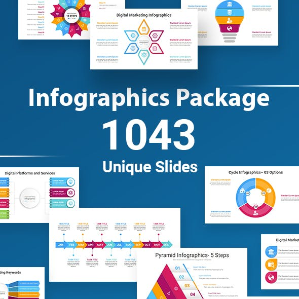Infographics Package Keynote Diagrams Template