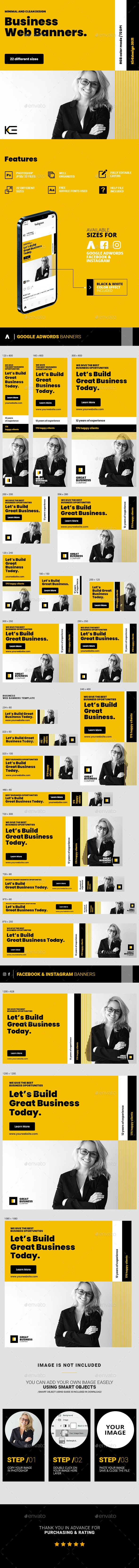 Business Web Banners - Banners & Ads Web Elements