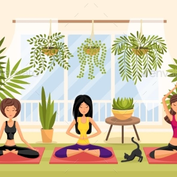 Yoga Relaxation Meditation Session Concept