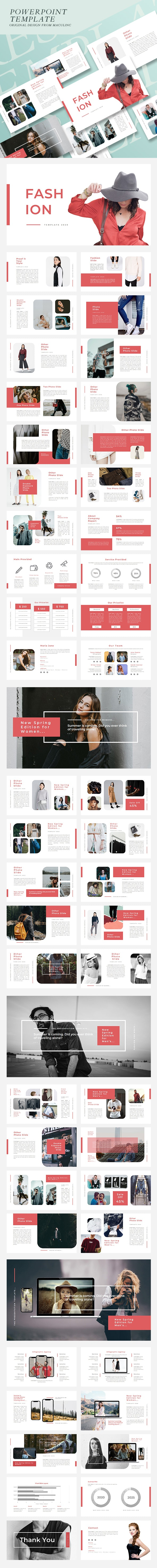 Fashion & Clothing Presentation Template Vol. 01 - Business PowerPoint Templates
