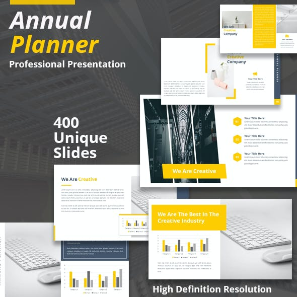 Annual Planner Powerpoint Presentation Template