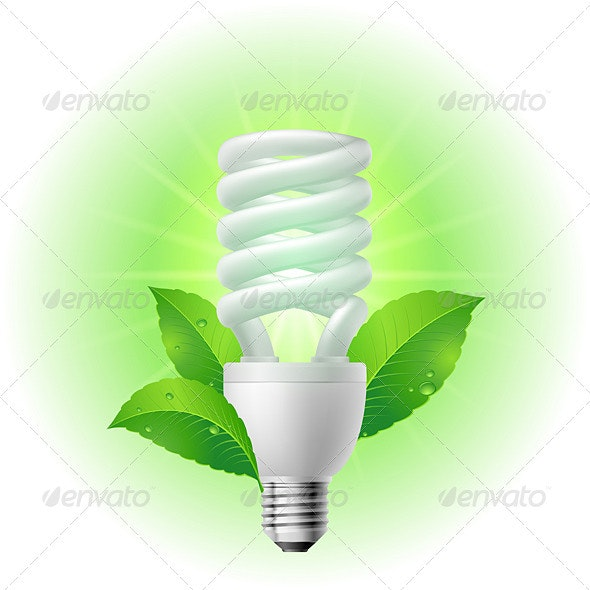 Energy saving lamp - Man-made Objects Objects