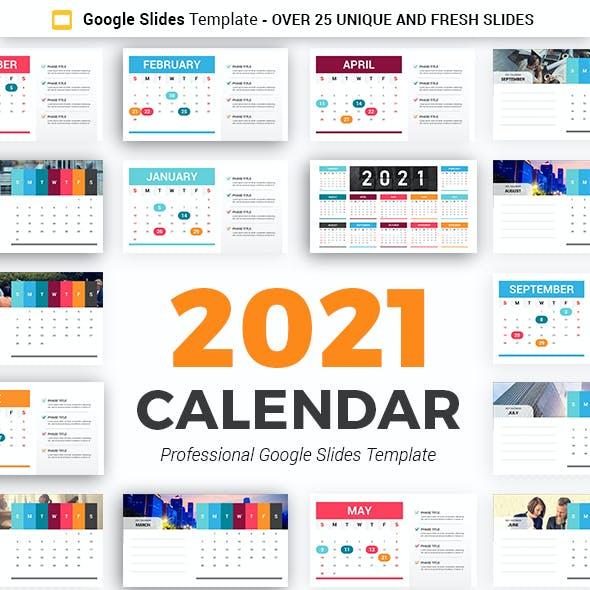 Calendar 2021 Google Slides Template