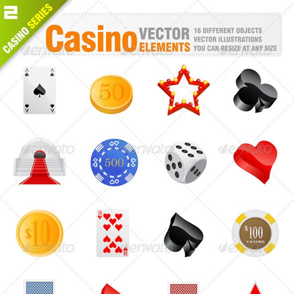 16 Vector casino elements