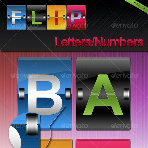 Flip Letters and Numbers