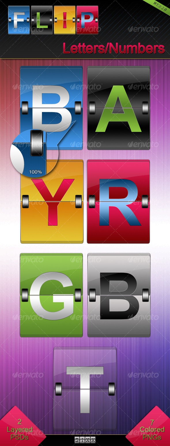 Flip Letters and Numbers - Miscellaneous Graphics