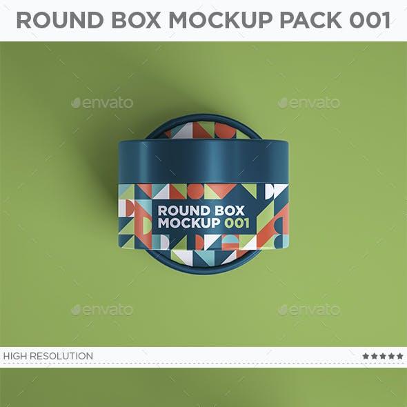 Round Box Mockup Pack 001