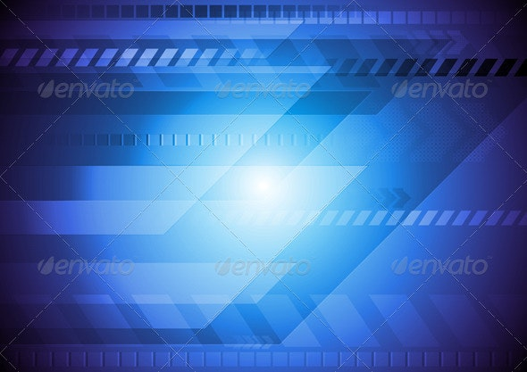 Abstract blue design - Backgrounds Decorative