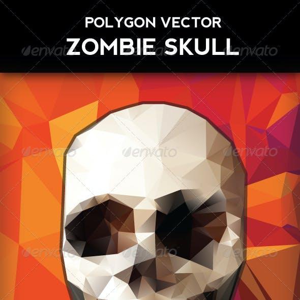 Polygon Vector Skull & Vibrant Polygon Background