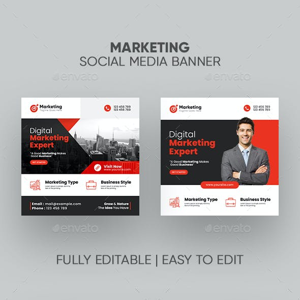 Marketing Social Media Banner Template