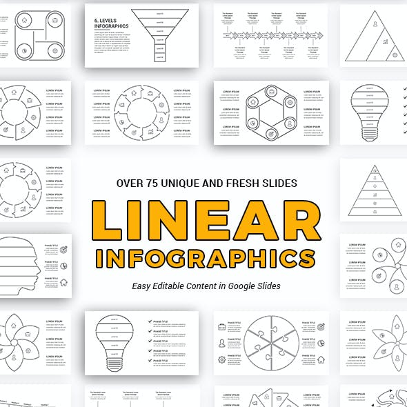 Linear Infographics Google Slides Template Diagrams