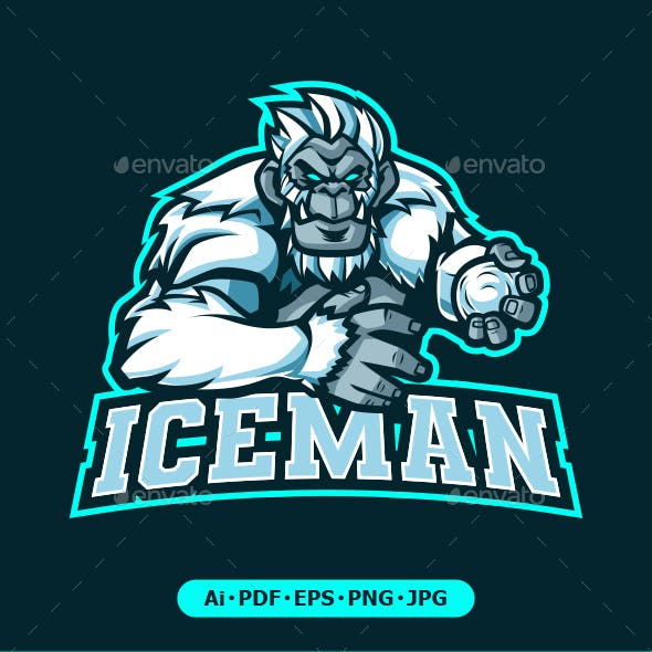 Iceman Yeti mascot logo for eSport team