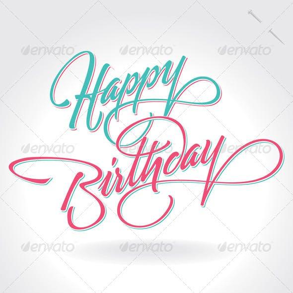 'Happy Birthday' Hand Lettering (vector)