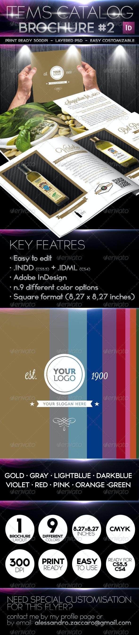 Products / Items Catalog - Retro Minimal Style - Brochures Print Templates