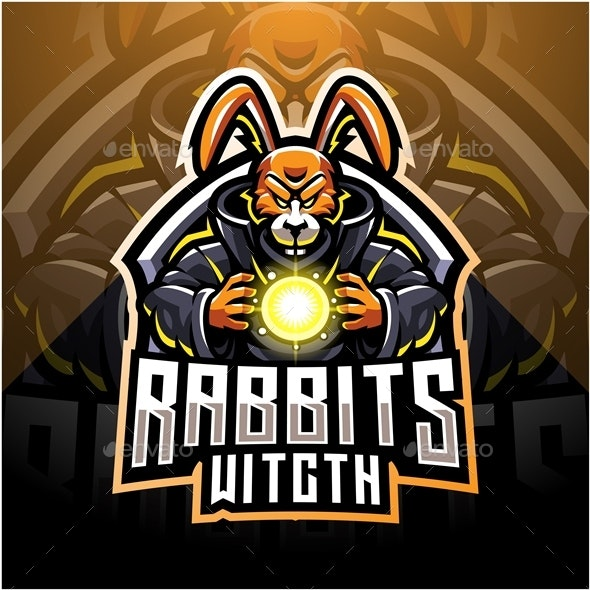 Rabbit Witch Esport - Vector Abstract
