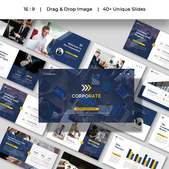 CORPORATE - Company Business Presentation Google Slides Template