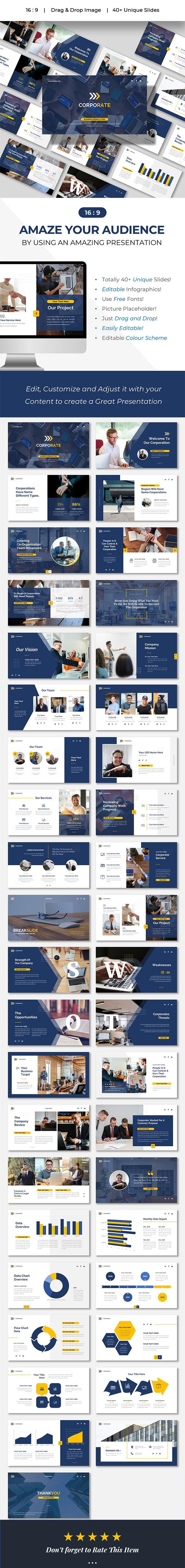 CORPORATE - Company Business Presentation Powerpoints Template - Business PowerPoint Templates