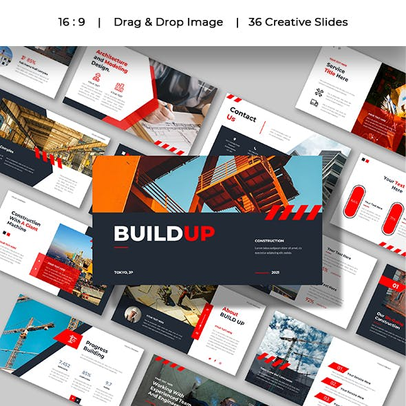 BUILD UP - Construction and Building Presentation Powerpoint Template