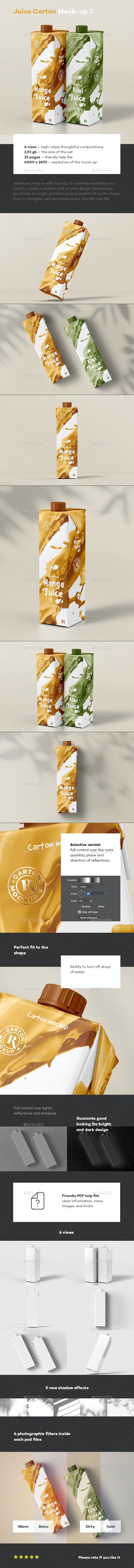 Juice Carton Mock-up 2 - Food and Drink Packaging