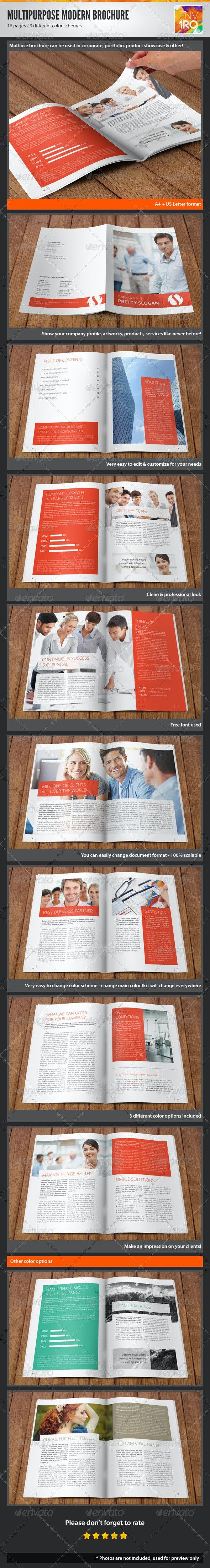 Multipurpose Modern Corporate Portfolio Brochure - Corporate Brochures