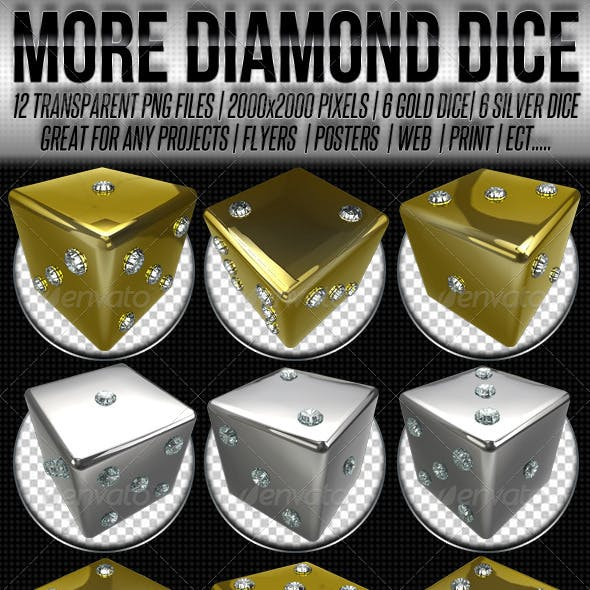 Silver And Gold Diamond Dice