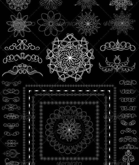 Version Decorative Calligraphic Brush - Borders Decorative