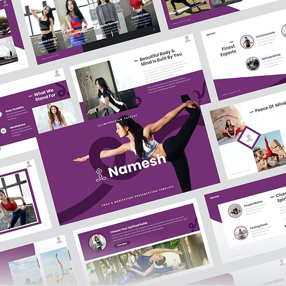 Namesh – Yoga & Meditation Google Slides Template