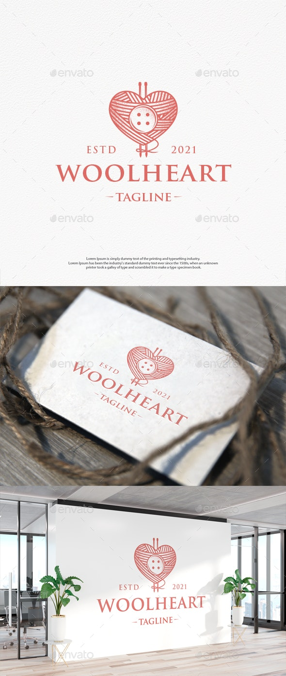Wool Love Vintage Logo Template - Objects Logo Templates