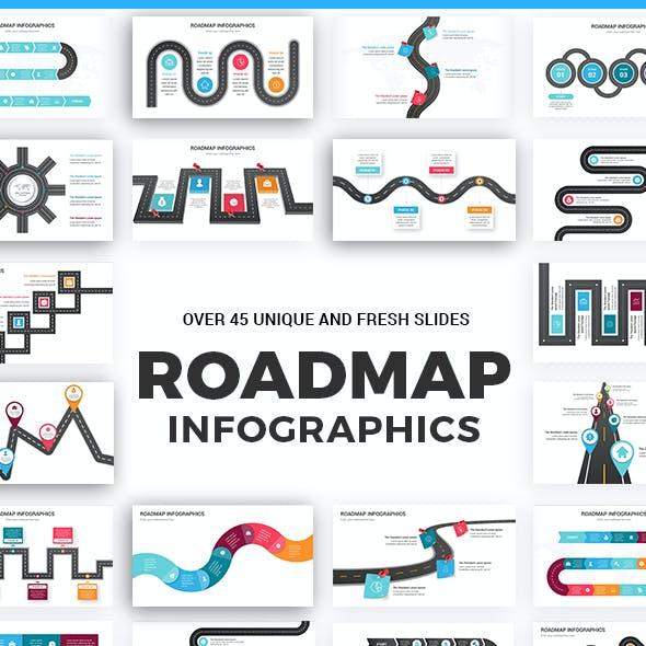 Roadmap Infographics Keynote Template diagrams