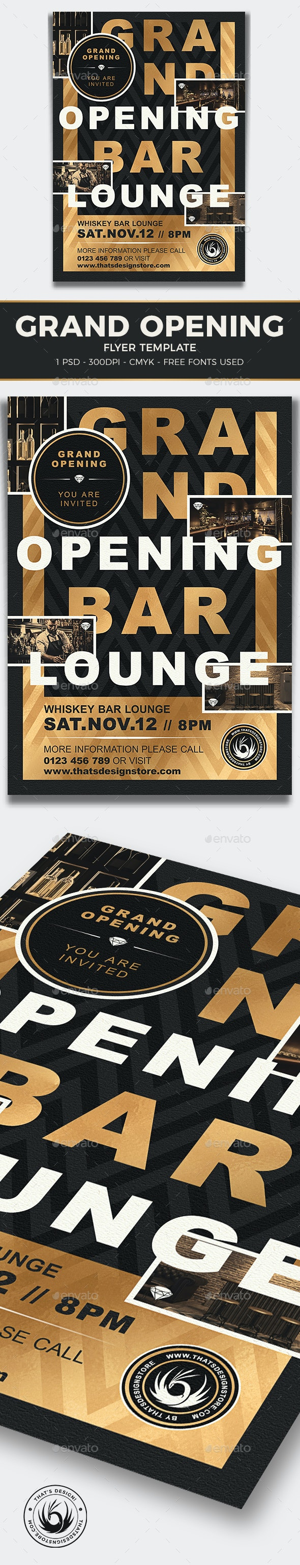 Grand Opening Flyer Template V4 - Clubs & Parties Events
