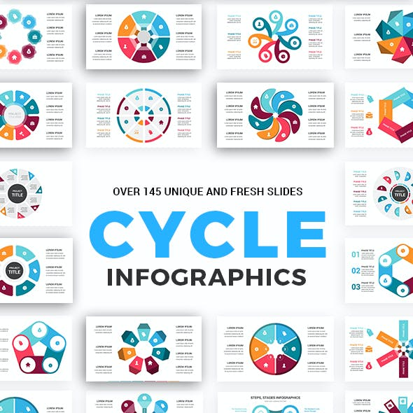 Cycle Infographics Keynote Template diagrams