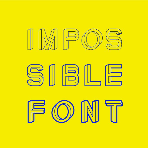 Impossible Font 3 weights