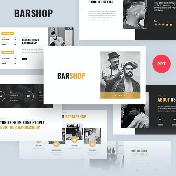 Barshop - Barbershop Powerpoint Template