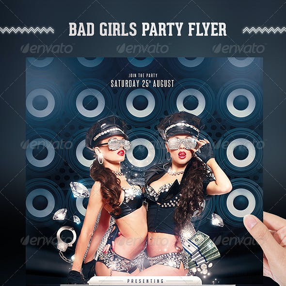 Bad Girls Party Flyer Template