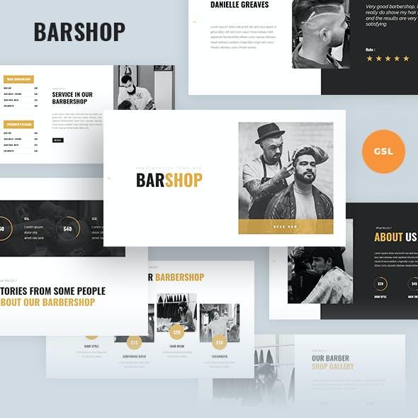 Barshop - Barbershop Google Slides Template