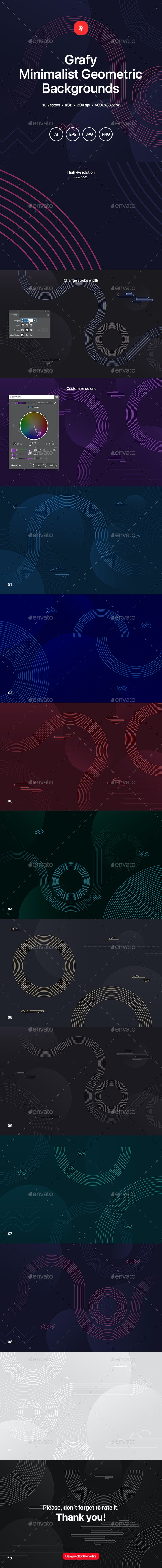 Grafy - Minimalist Geometric Backgrounds - Abstract Backgrounds