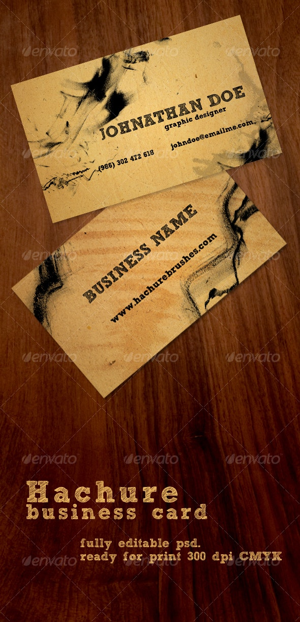 Hachure Business Card - Grunge Business Cards