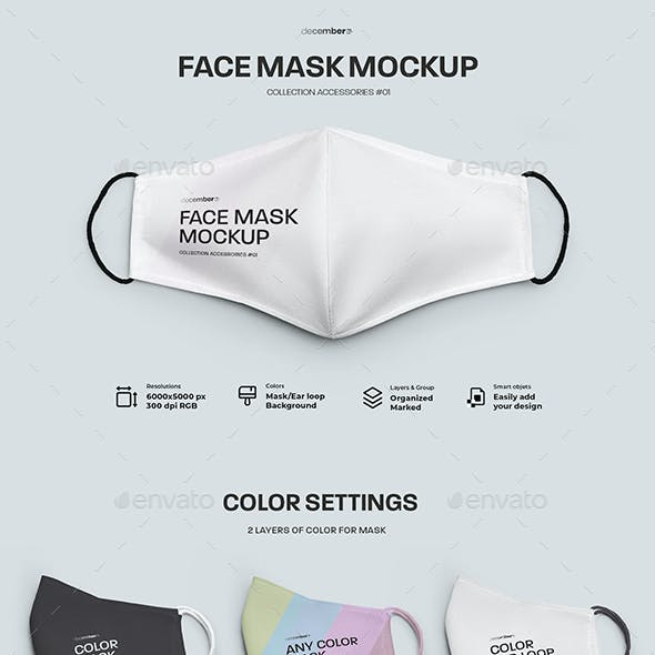 3 Mockups Face Mask