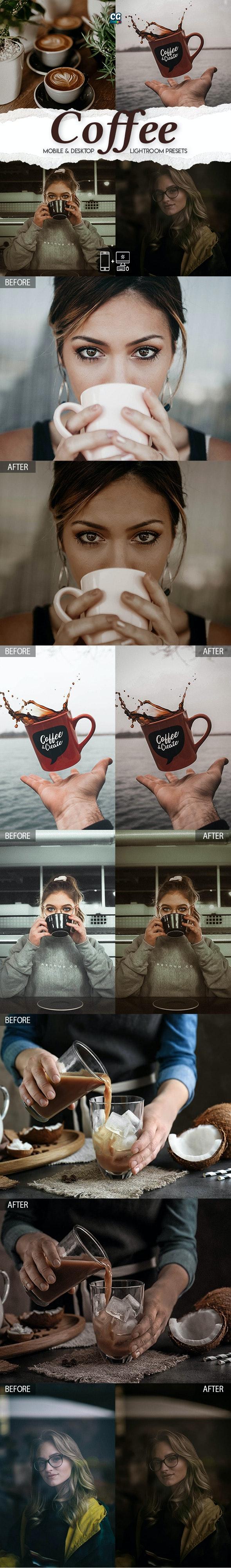 Coffee Lightroom Presets - 15 Premium Lightroom Presets - Lightroom Presets Add-ons