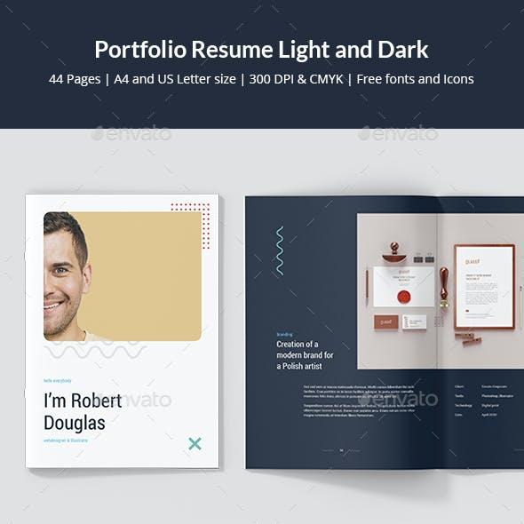 Portfolio Resume Light and Dark