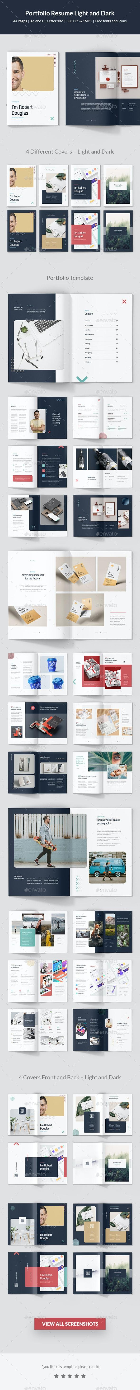Portfolio Resume Light and Dark - Portfolio Brochures