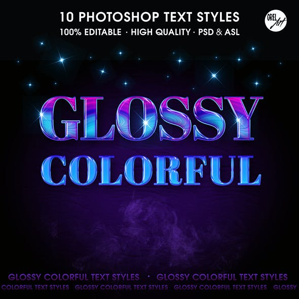 Glossy Colorful Text Styles
